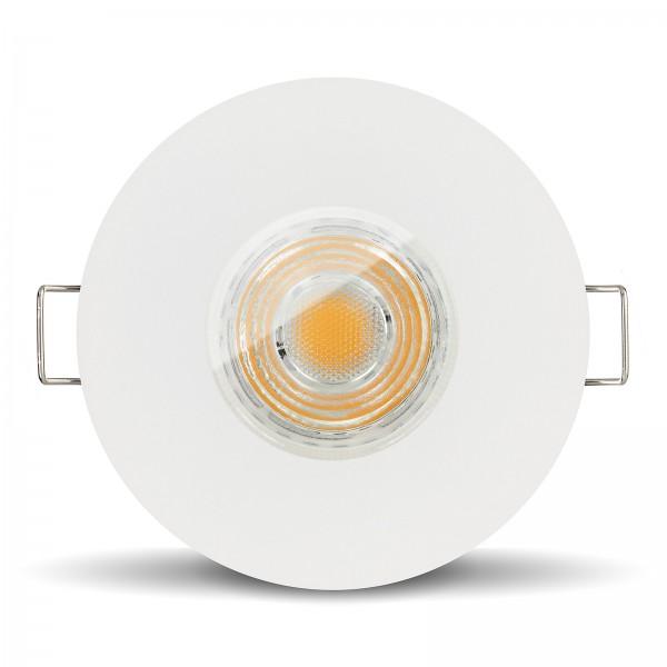 LED Bad Einbaustrahler Set IP65 dimmbar + Einbaurahmen 230V 10W GU10