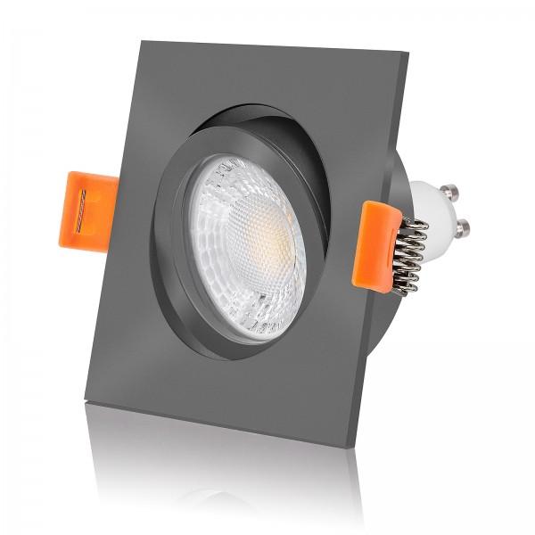 Led Einbauleuchte Set antrazit 230 Volt 7 Watt warmweiß