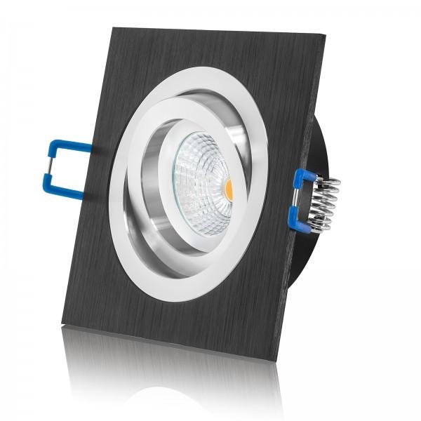 LED Einbauleuchte Set von LEDOX - dimmbar inkl. Einbaurahmen | 230V 7W GU10 Deckenleuchte Spot