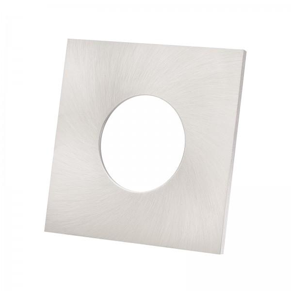 Lista Aqua Einzelblende eisen gebürstet aus Aluminium eckig passend für Lista Aqua Modul IP65