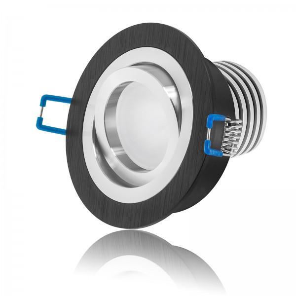 LED Einbaustrahler Set - dimmbar inkl. Einbaurahmen | 10W 58mm EXTRA FLACH Ra90
