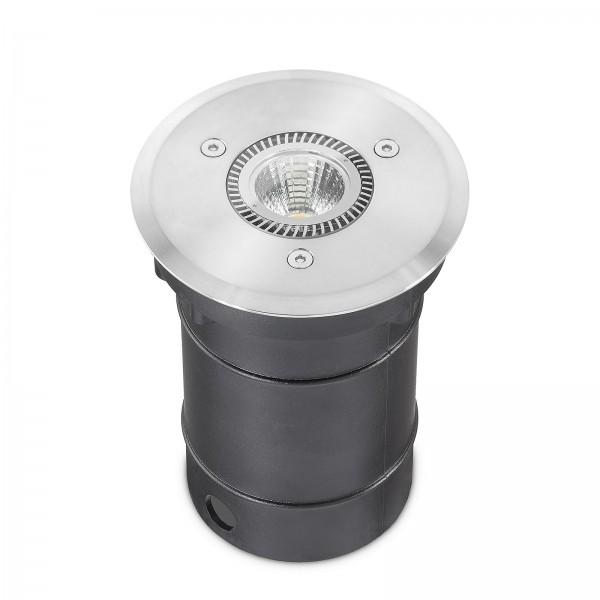 LED Bodeneinbaustrahler Set dimmbar & IP67 - 6W GU10 Strahler warmweiß