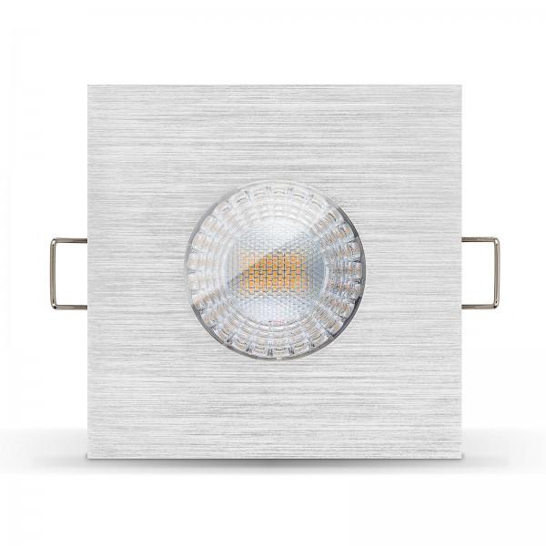LISTA AQUA LED Bad Einbaustrahler Set IP65 dimmbar inkl. Einbaurahmen gebürstet 230V 7W Modul inkl. Trafo extra flach mit Ra>90