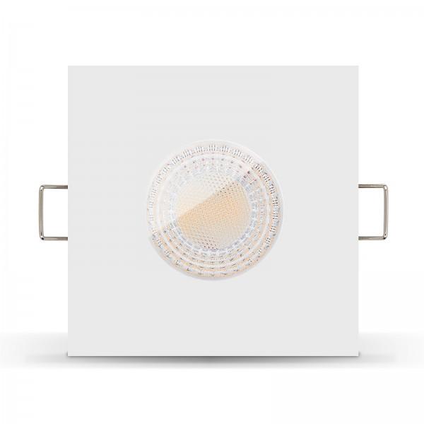 LISTA AQUA LED Bad Einbauleuchte IP65 dimmbar inkl. Einbaurahmen weiß 230V 7W GU10 mit Ra>93