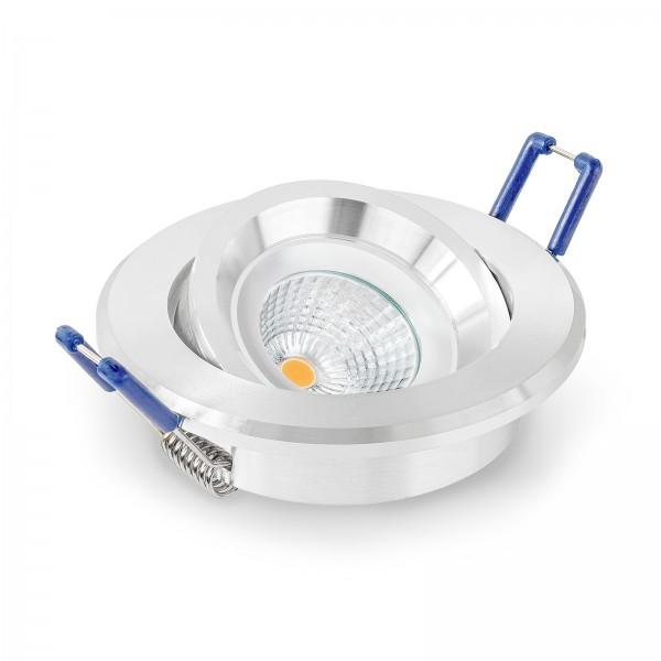 LED Einbaustrahler Set - dimmbar inkl. Einbaurahmen | 230V 6W 28mm EXTRA FLACH