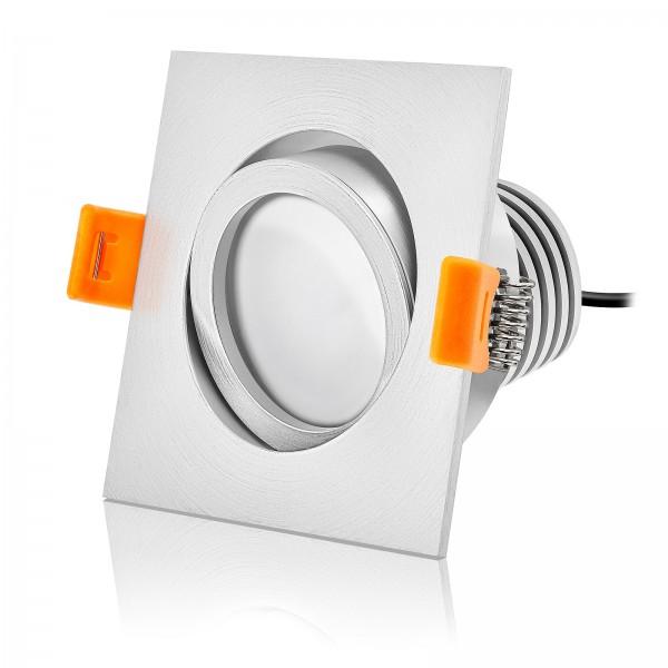LED Einbaustrahler Set dimmbar & schwenkbar inkl. Einbaurahmen Forma EM 230V 10W Modul mit Ra>90