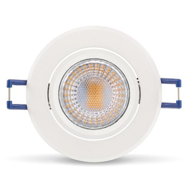 Elegant & hochwertig - LED Einbaustrahler Set von LEDOX schwenkbar inkl. Einbaurahmen   230V 5W