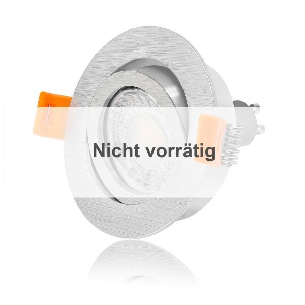 FORMA R LED Einbaustrahler Set dimmbar & schwenkbar inkl. Einbaurahmen gebürstet 230V 7W GU10 3000K