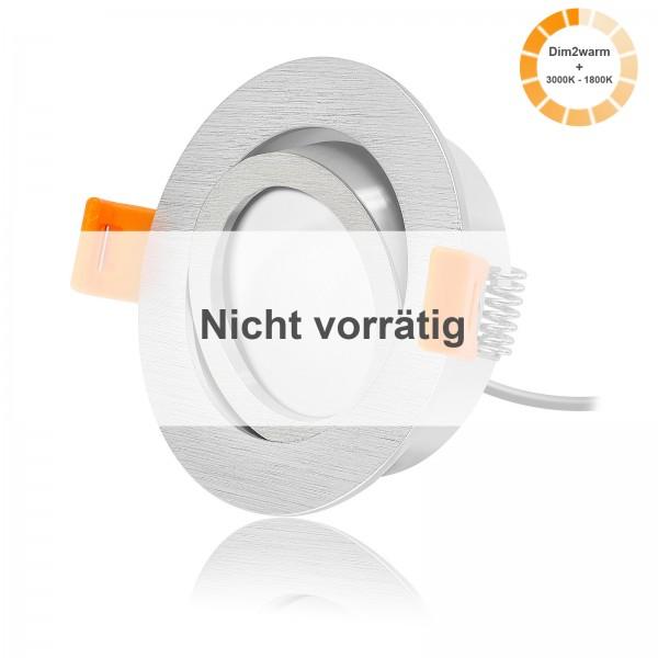 LED Einbaustrahler Set dimmbare Farbtemperatur dimtowarm inkl. Forma R Einbaurahmen 230V 7W Modul extra flach