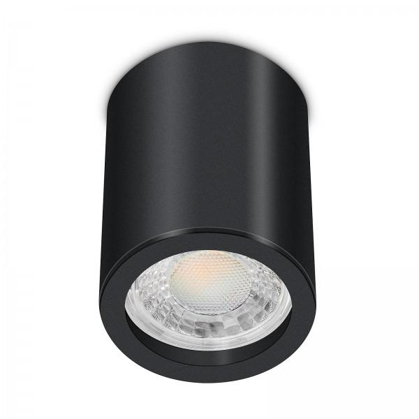 Tube Pure Aufbauleuchte - 230V 7W GU10 3000K dimmbar - Aufbaurahmen schwarz Aluminium 10cm
