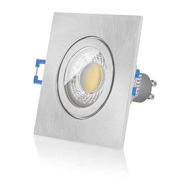 5 x LED Bad Einbaustrahler Set IP44 230V 6W GU10 Feuchtraum Badezimmer Lampe