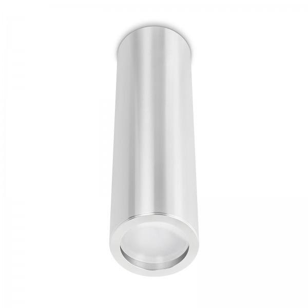 Smart Home Tube Pure LED Aufbauleuchte silber poliert 24cm 230V 10W Modul - 120° Abstrahlung & Ra>90