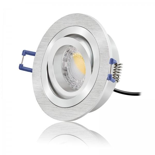 LED Einbauspot Set dimmbar & schwenkbar inkl. Bicolor Einbaurahmen 230V 7W 2700k warmweiß 60° AW - Ra>90