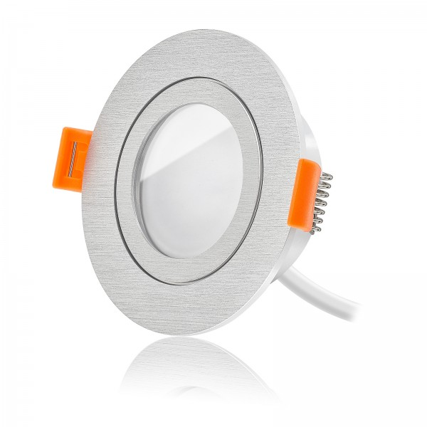 Led Premium Einbaustrahler Set dimmbar & schwenkbar inkl. Forma Einbaurahmen und Led Leuchtmittel Modul RGB + 2700k - 6500K