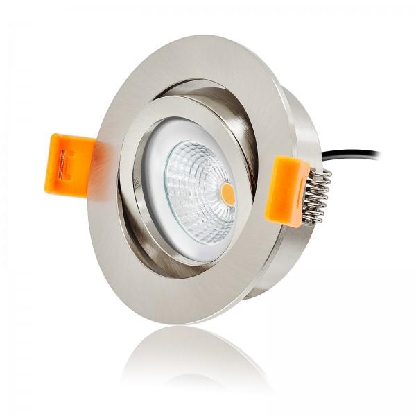 Ledox® Led Einbaustrahler Set dimmbar & schwenkbar inkl. Premium Einbaurahmen Forma RE 230V 6W Modul inkl. Trafo 2700k warmweiß flach Decken-einbau-lampe-leuchte-beleuchtung