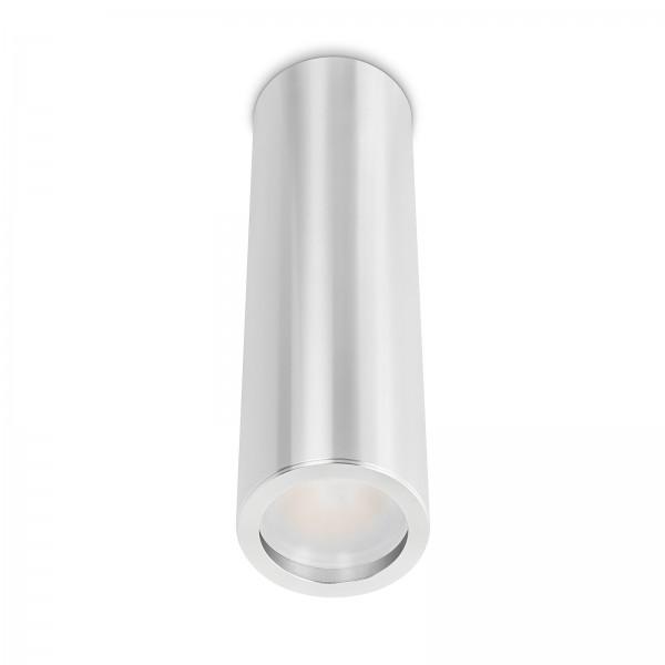 Smart Home Tube Pure LED Aufbauleuchte silber poliert 24cm 24V 6W - 120° KNX DALI GOOGLE HUE