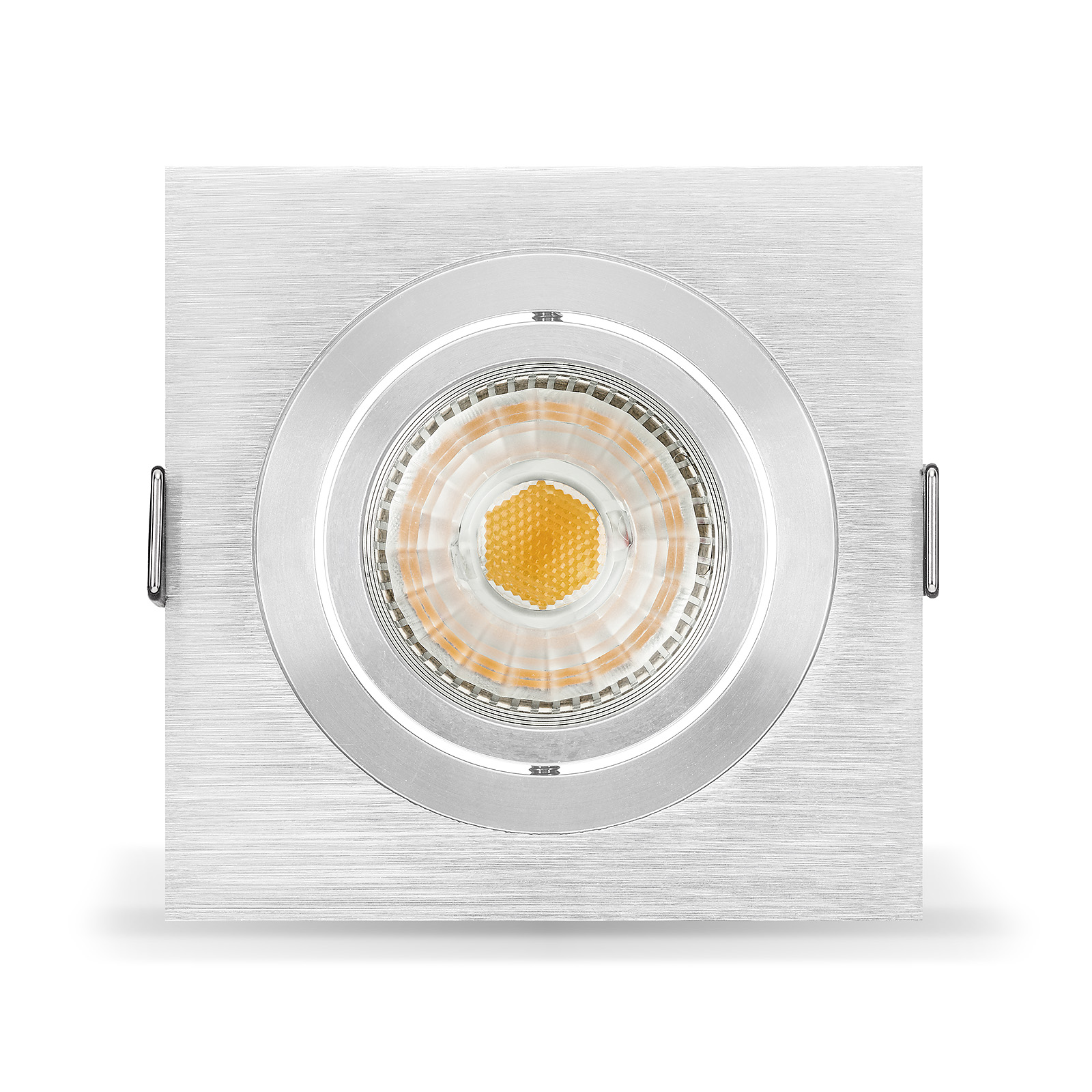 led einbaustrahler set von ledox dimmbar schwenkbar inkl einbaurahmen 230v 6w. Black Bedroom Furniture Sets. Home Design Ideas