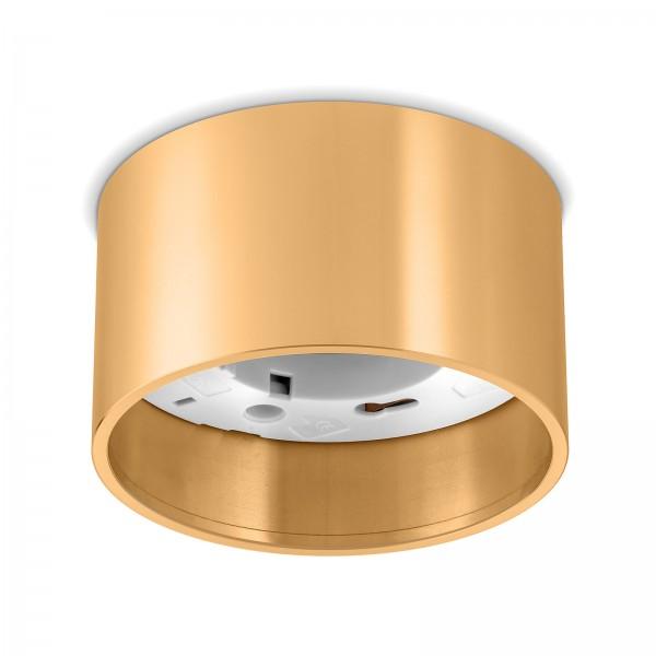 Ledox AURA Aufbaurahmen GX53 Deckenleuchte für Led & Halogen Leuchtmittel bis 50W I Aluminium Decken-aufbau-strahler-rahmen-lampe-strahler-beleuchtung (gold)