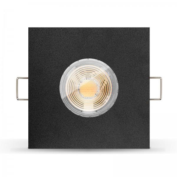 LED Bad Einbaustrahler Set IP65 dimmbare Farbtemperatur 1800K-3000K + Einbaurahmen 230V 7W GU10