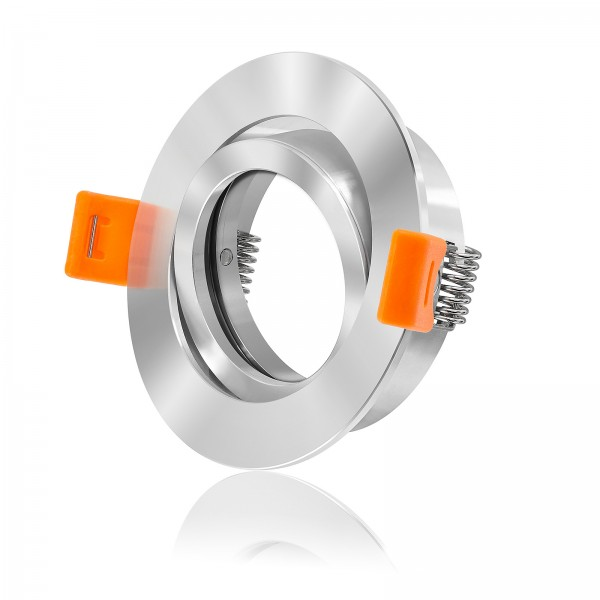 Ledox Premium Einbaurahmen forma rc chrom spiegel rund schwenkbar aus Aluminium mit 68mm Lochausschnitt