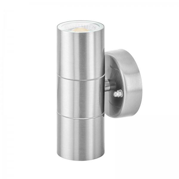 LED Außenlampe Up & Down Set IP44 von LEDOX in Edelstahl - dimmbar inkl. Leuchtmittel 230V 7W