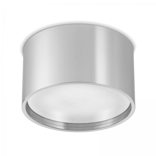 Led AURA Aufbaustrahler Set GX53 silber inkl. 9W Leuchtmittel warmweiß - Aufbau-lampe-leuchte-spot