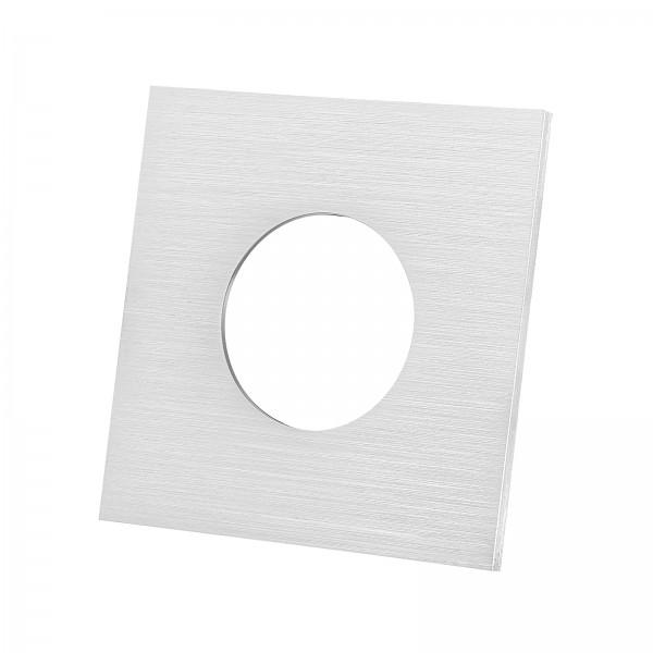 Lista Aqua Einzelblende gebürstet aus Aluminium eckig passend für Lista Aqua Modul IP65