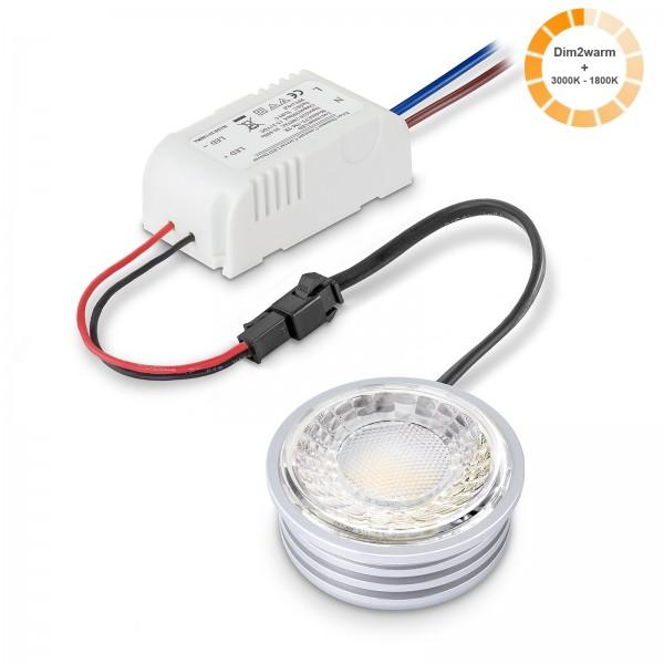 LED Leuchtmittel Modul 1800k - 3000K I 230V nur 24mm flach dimmbare Farbtemperatur 7W inklusive Trafo