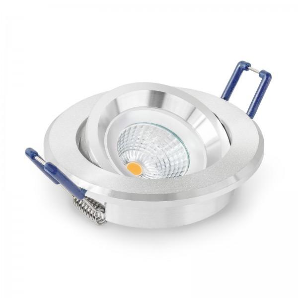 LED Einbaustrahler Set dimmbar inkl. Einbaurahmen 230V 6W 28mm EXTRA FLACH Deckenleuchte