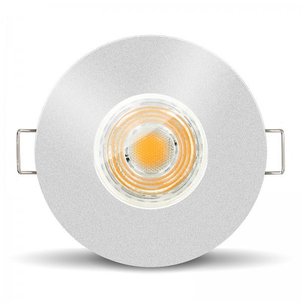 LED Bad Einbaustrahler Set IP65 dimmbar + Einbaurahmen 230V 10W GU10 I 80W Ersatz
