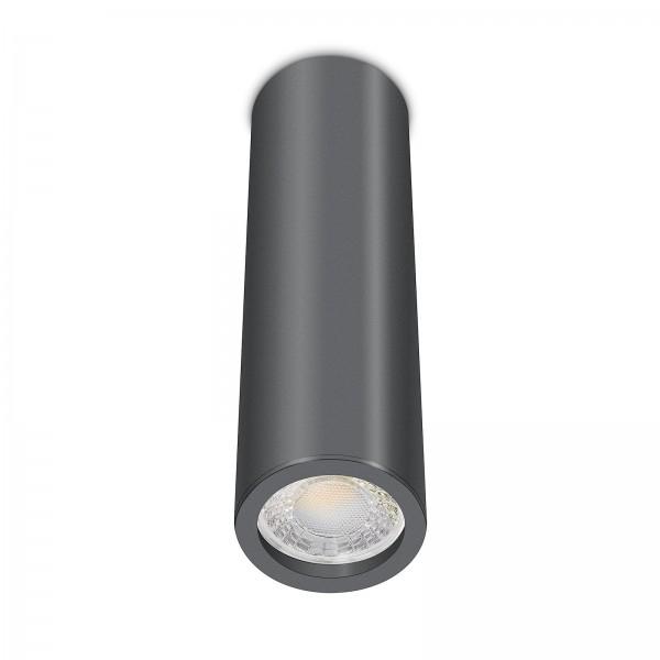Tube Pure Aufbauleuchte - Aufbaurahmen anthrazit Aluminium 24cm 230V 7W dimmbar 60° Abstrahlung 90 CRI