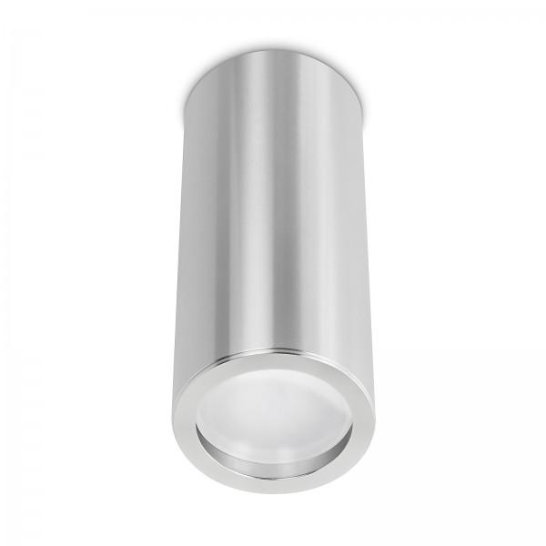 Smart Home Tube Pure LED Aufbauleuchte silber 17cm 230V 10W Modul 2700K warmweiß - 120° Abstrahlung & Ra>90