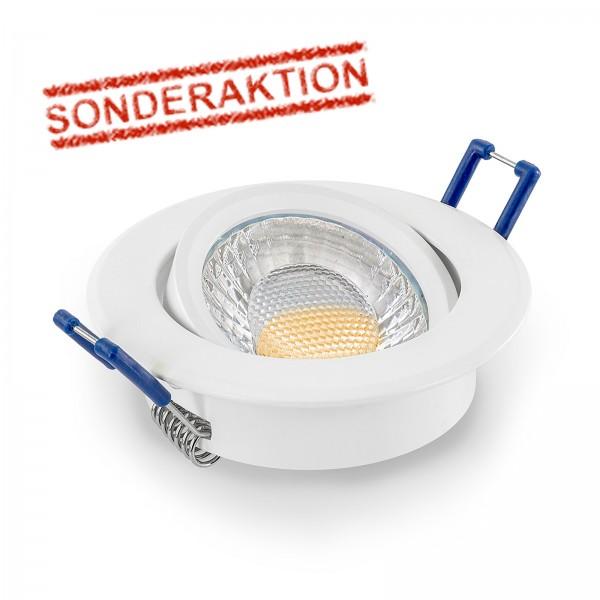 Sonderaktion - Elegant & hochwertig - LED Einbaustrahler Set schwenkbar inkl. Einbaurahmen | 230V 5W