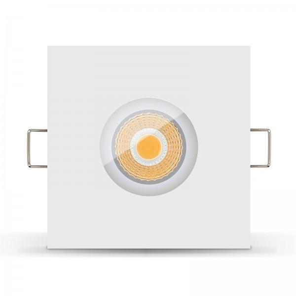 LISTA AQUA LED Bad Einbaustrahler Set IP65 dimmbar inkl. Einbaurahmen weiß 230V 6W Modul Ra>90
