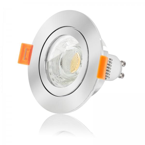 FORMA AQUA LED Bad Einbaustrahler Set IP44 dimmbar inkl. Forma Einbaurahmen chrom 230V 10W GU10 3000k warmweiß