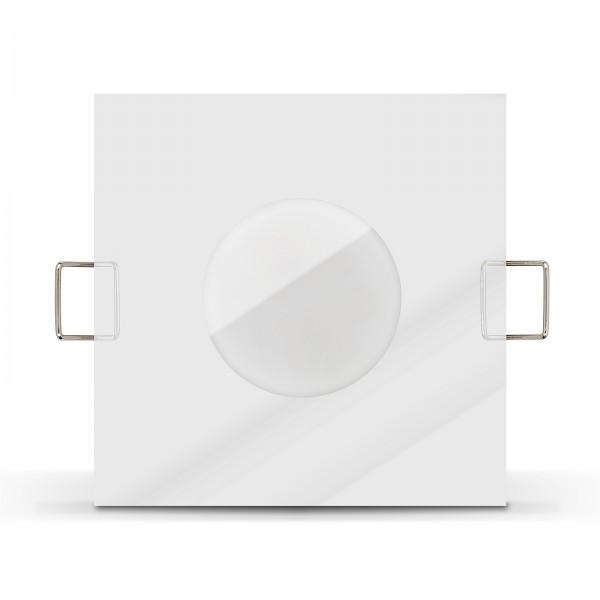 LISTA AQUA LED Bad Einbaustrahler Set IP65 dimmbar inkl. Einbaurahmen chrom 230V 6W Modul inkl. Mini Trafo Ra>80