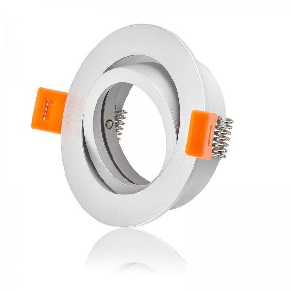 Forma Einbaurahmen aus Aluminium in silber matt rund I geeignet für Led & Halogen Leuchtmittel