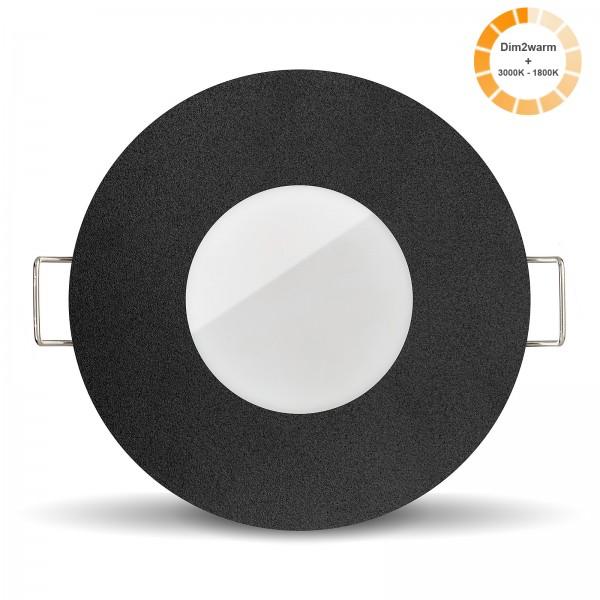 Ledox Lista Aqua Bad LED Einbaustrahler Set Modul 1800k - 3000K I 230V nur 24mm flach dimmbar 7W