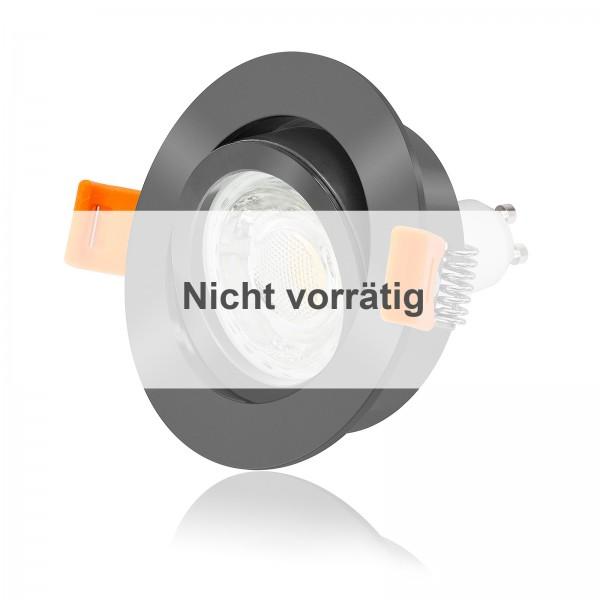 FORMA RA LED Einbaustrahler Set dimmbar & schwenkbar inkl. Einbaurahmen anthrazit 230V 10W GU10 3000