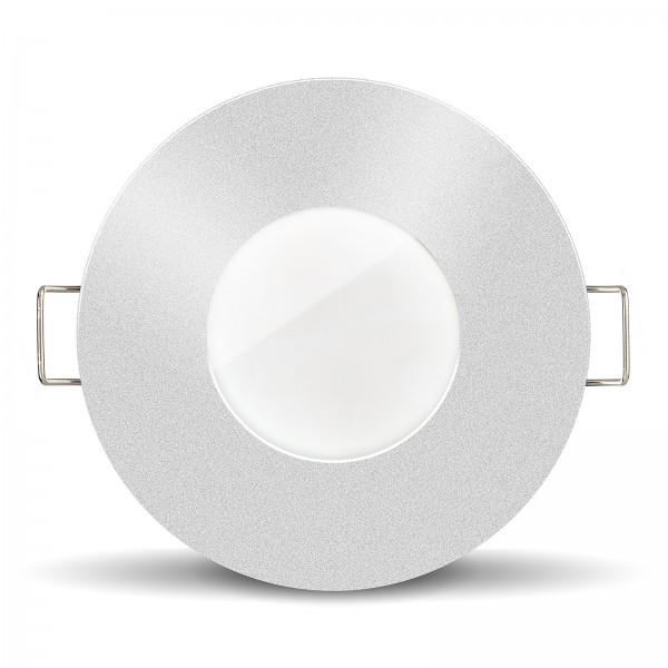 Led Bad Einbauleuchte silber mit IP65 und 10W Modul