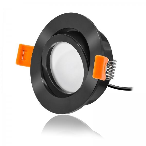 FORMA RS LED Einbaustrahler Set dimmbar inkl. Einbaurahmen schwarz 24V 6W Modul KNX DALI GOOGLE