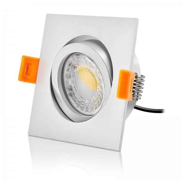 LED Einbaustrahler Set dimmbar & schwenkbar inkl. Einbaurahmen Forma EM 230V 7W Modul mit Ra>95