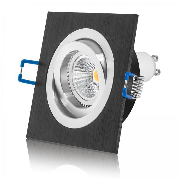 LED Einbaustrahler Set von LEDOX - dimmbar inkl. Einbaurahmen 230V 6W GU10