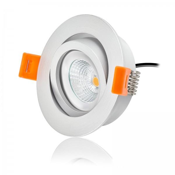 LED Einbaustrahler Set dimmbar & schwenkbar inkl. Forma RM Einbaurahmen 230V 6W Modul warmweiß
