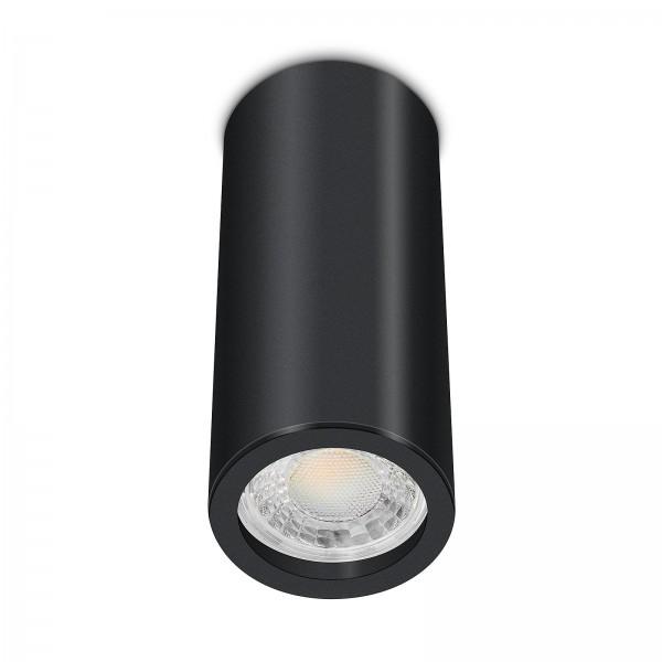Tube Pure Aufbauleuchte - Aufbaurahmen schwarz Aluminium 17cm 230V 7W GU10 3000K