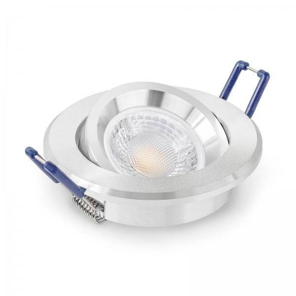 LED Einbauleuchten Set dimmbar & schwenkbar inkl. Einbaurahmen 230V 7W GU10 mit Ra>93