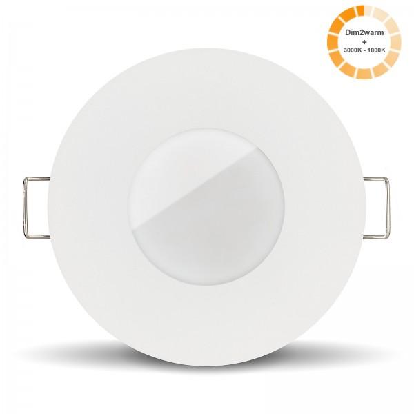 Ledox Lista Aqua Led Bad Einbau-strahler-leuchte-lampe Set IP65 dimmbare steuerbare Farbtemperatur 1800K-3000K Einbaurahmen 230V 7W