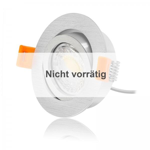 FORMA R LED Einbaustrahler Set dimmbar & schwenkbar inkl. Einbaurahmen gebürstet 230V 7W Modul