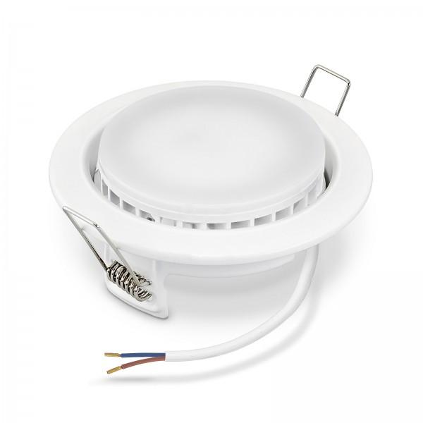 LED Einbauleuchten Set GX53 inkl. Einbaurahmen 230V 9W Leuchtmittel Extra flach 110° Abstrahlwinkel