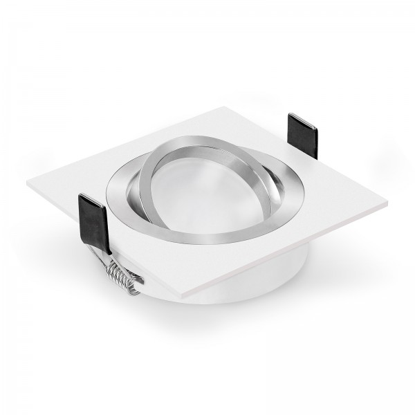 LED Einbaustrahler Set dimmbar & schwenkbar inkl. Einbaurahmen Bicolor 230V 7W Modul
